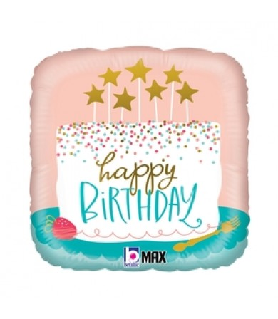 "26118P- Birthday Confetti Cake (18"")"